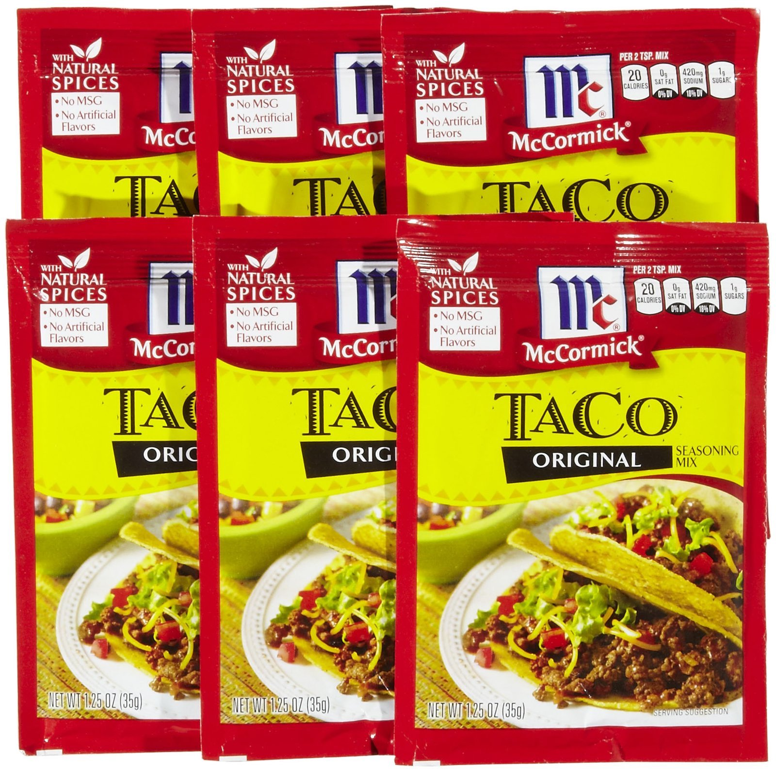 Mccormick S Original Taco Seasoning Mix 35g Pack Of 1 Buy Online In Faroe Islands At Faroe Desertcart Com Productid 50866341