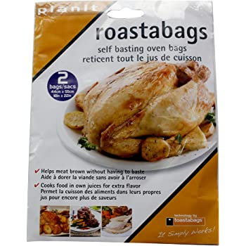 Oven Roasting Bags Large 2 Pk - 18 X 22 Inches