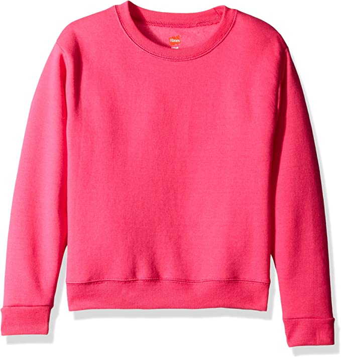 Hanes Girls Big Girls ComfortSoft EcoSmart Fleece Sweatshirt