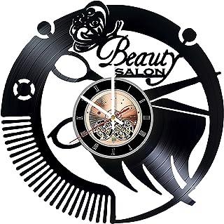 Beauty Salon Vinyl Record Wall Clock - Home Room wall decor - Gift ideas for women and men, girls – Beautiful Unique Art D...
