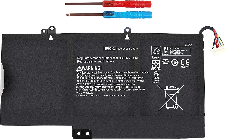 Dedication Np03xl 761230-005 Battery for Laptop 15-u010dx Max 68% OFF Envy X360 HP 15-u