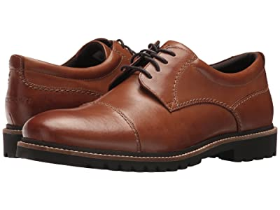 Rockport Marshall Cap Toe Oxford (Cognac Leather) Men