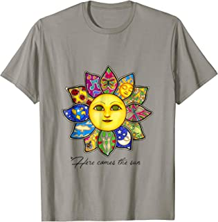 Here Comes The Sun Hippie T-Shirt Gift For Men And Women