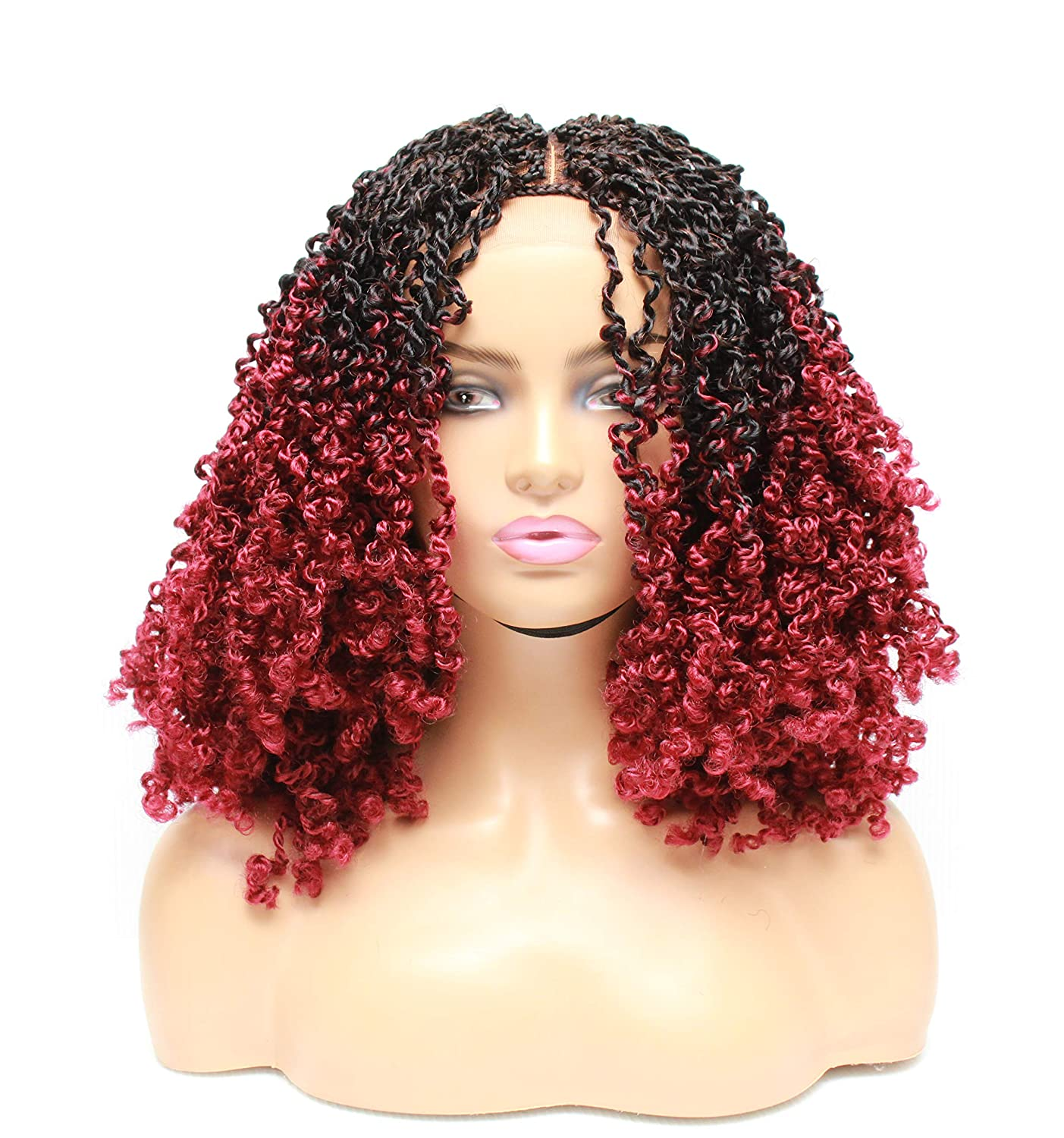 Spring twist hair- Super Gifts beauty product restock quality top Braided wigs for braided sale- lace wig front