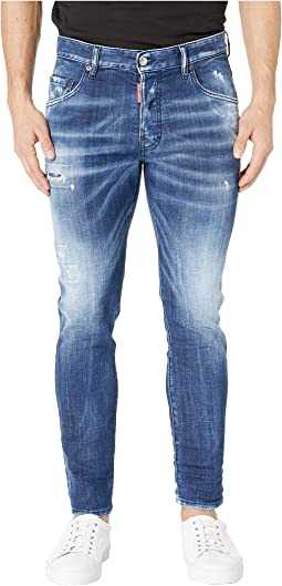 Army Fade Wash Skater Jeans in Blue