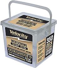 "Velocity 9G x 3"" Tan Deck Screw 350ct"