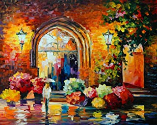 Flower Galore Art Print,Landscape Canvas Painting by Painting Mantra(18x22inch)