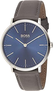 Hugo Boss Men's Dial Leather Band Watch