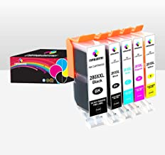 Copyquarters Replacement Canon Ink Cartridges: PGI-280 XXL and CLI-281 XXL Printer Ink Cartridge Replacements -  Compatible with Canon Pixma TS8120, TS9120, TS8220 and TS9100 Inkjet Printers - 5 Pack