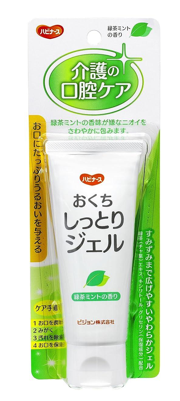 霧重くする甘やかすハビナース おくちしっとりジェル 緑茶ミントの香り 60g