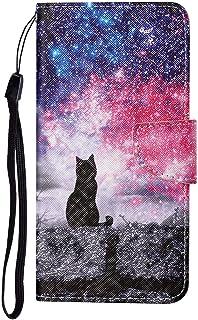 TYWZ Lederen Wallet Case voor Samsung Galaxy A52, Flip Cover met Patroon Kichstand Kaarthouder Slot Bookstyle Beschermende...