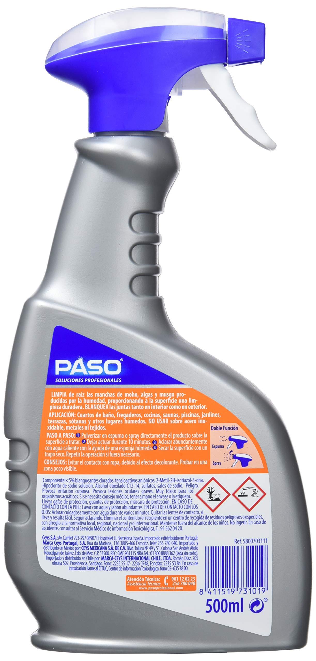 Paso Limpiador Moho, Hipoclorito de Sodio, Gris, 12.5x4x25.5 cm ...