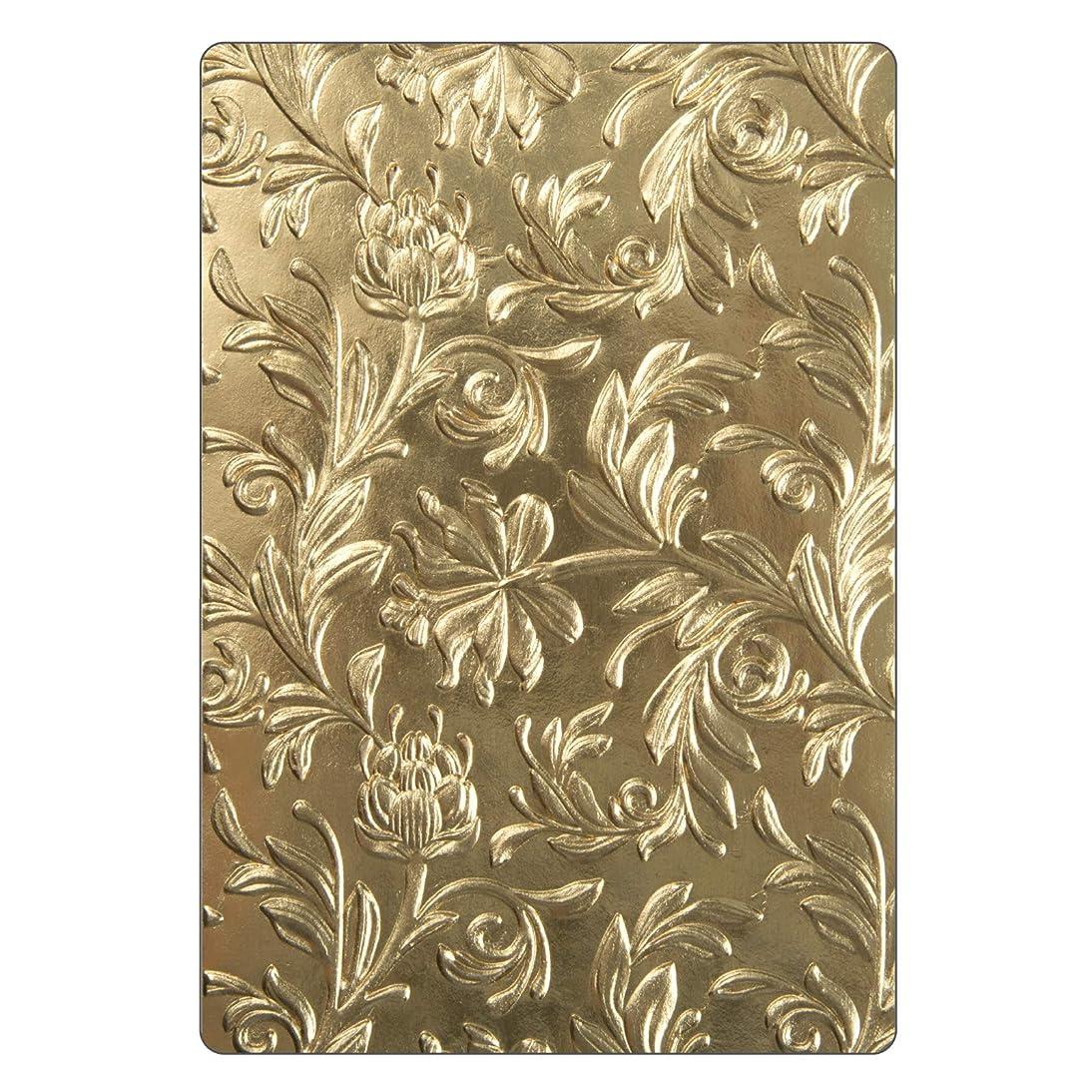 Sizzix 662716 3-D Texture Fades Embossing Folder, Gold