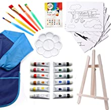 Kids Art Set - 27 piece Water Color paint set for kids, Art Supplies for Drawing, Painting, With Portable Storage Bag - Makes A Great Gift For Beginner Artist