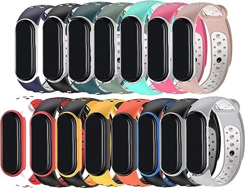 MAKACTUA pour Bracelet Mi Band 5,Xiaomi Mi Band 5 Bracelet,Bracelet de Sport en Remplacement Silicone Sport Réglable ...