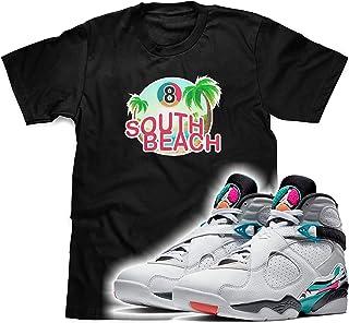 69b1e4dcd22b South Beach T-Shirt to Match Air Jordan Retro 8 South Beach Sneakers
