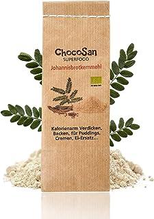 ChocoSan Johannisbrotkernmehl Bio 100g - natürliches Bindemittel, Verdickungsmittel, veganer Ei Ersatz, Geliermittel, Speisestärke Ersatz, glutenfrei, laktosefrei, low carb