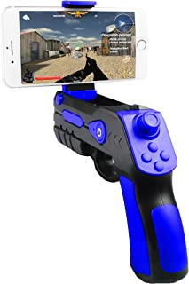 GOLDREAM Upgrade AR Game Gun, Bluetooth AR Toys Gun, Ar Blaster with Joystick for iPhone Android Smart Phone (Blue)