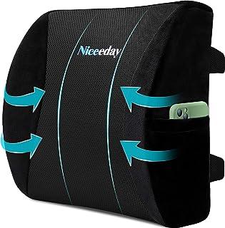 Oreillers lombaires en mousse à mémoire de forme pour le bureau, la voiture, les oreillers lombaires en matériau 3D respir...