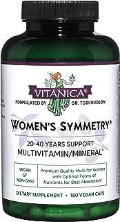 Vitanica, Women's Symmetry, High Potency Daily Multivitamin, Vegan, 180 Capsules
