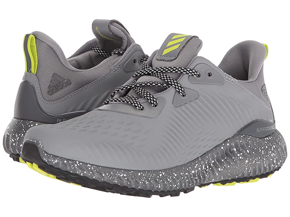 adidas Kids Alphabounce EM CTD J (Big Kid) (Black/Grey/Yellow) Boys Shoes