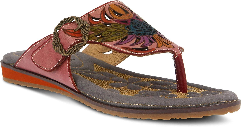 L'ARTISTE L'ARTISTE L'ARTISTE Kvinnors poetiska läder Thong Sandal  varm