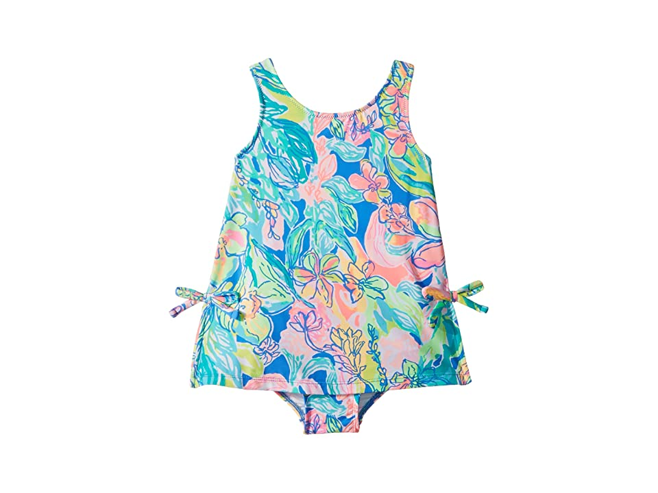 Lilly Pulitzer Kids UPF 50+ Little Lilly Swimsuit (Toddler/Little Kids/Big Kids) (Bennet Blue Surf Gypsea Swim) Girl's Swimsuits One Piece, Multi