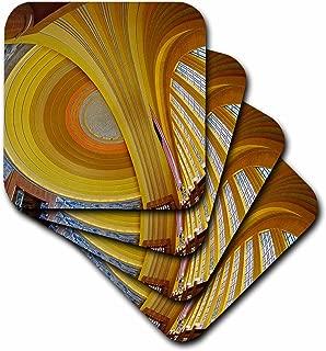 3dRose CST_93347_3 Art Deco Architecture, Cincinnati Museum Center, Ohio-Us36 Aje0026-Adam Jones-Ceramic Tile Coasters, Set of 4
