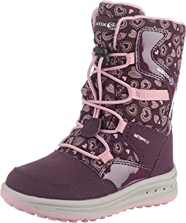 Geox Girls' Roby Warm Lined T Boots LACE, PIN