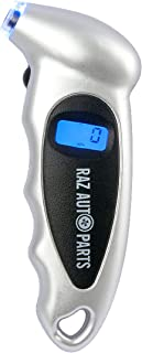 RAZ AUTO PARTS Digital Tire Pressure Gauge – Reliable Tire Pressure Monitoring System – Lighted Air Pressure Gauge for Car, Truck, Motorcycle, Bike, ATV and More – Durable and Accurate PSI Gauge