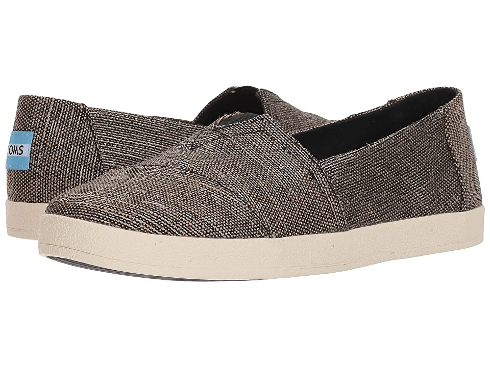 TOMS Avalon (Black Metallic Woven) Women