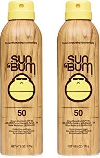 Sun Bum Sun Bum Original Spf 50 Sunscreen Spray Vegan and Reef Friendly (octinoxate & Oxybenzone Free) Broad Spectrum Mois...