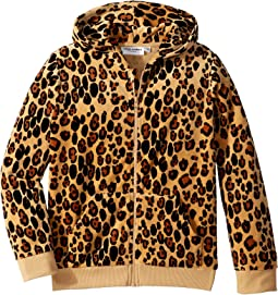 Leopard Velour Zip Hoodie (Infant/Toddler/Little Kids/Big Kids)