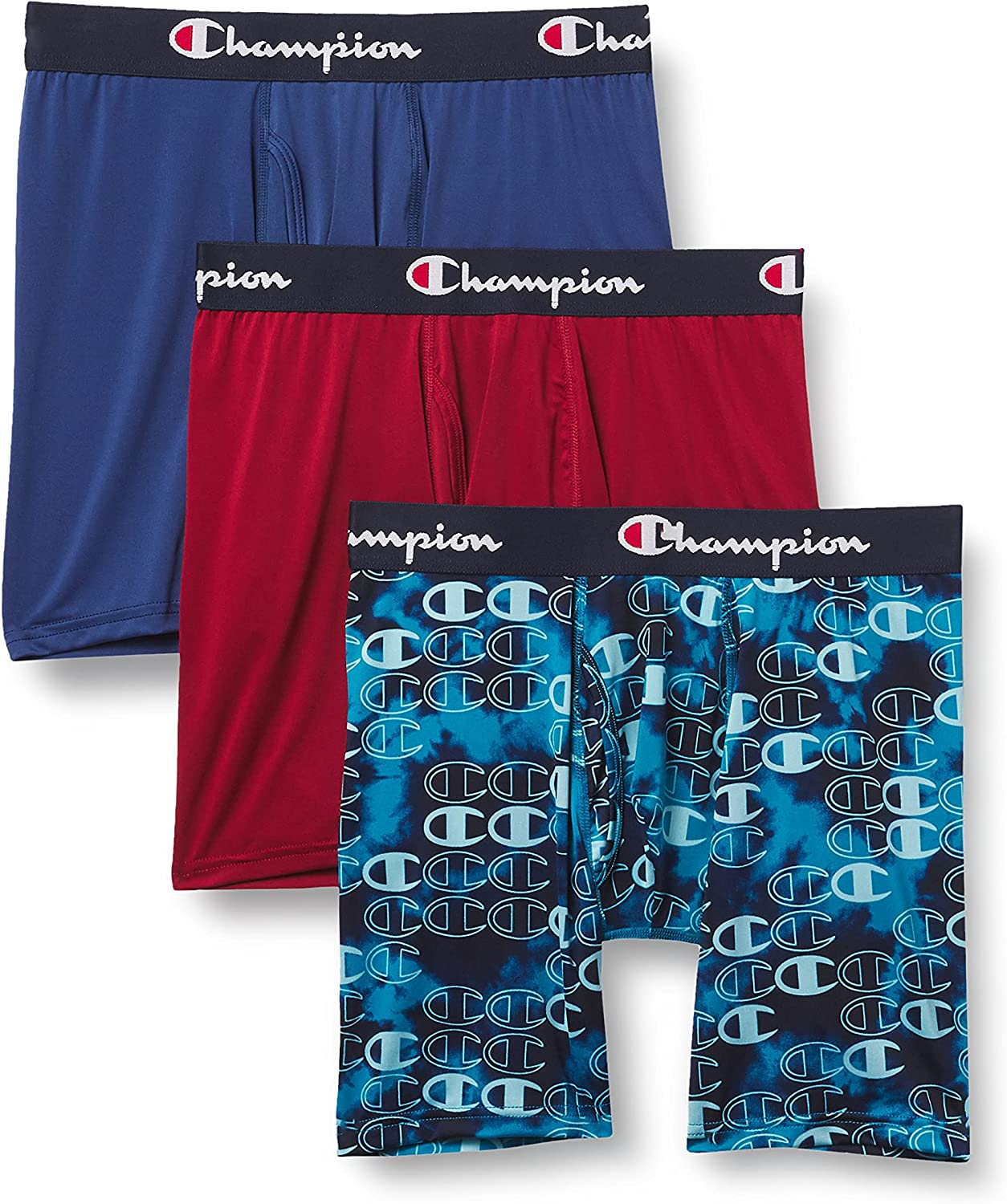 Champion Men's Lightweight & Breathable Stretch Boxer Brief (Pack of 3)