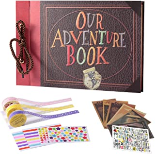JoalGfda Nuestro libro de aventuras Álbum de recortes Pixar Up Álbum de recortes familiar hecho a mano DIY con cubierta de...