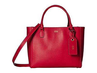 Frances Valentine Olivia Double Handle Tote (Red) Handbags