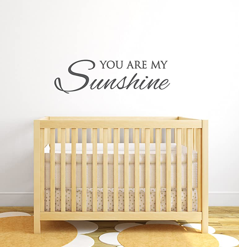 You Are My Sunshine Wall Decal Quote Nursery Wall Decals Baby Nursery Decor Vinyl Wall Decal