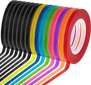 Cridoz 15 Rolls 1/8 Whiteboard Thin Tape Pinstripe Art Tape Dry Erase Board Grid Tape Lines Pinstriping Electrical Marking...