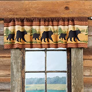BLACK FOREST DECOR Bear and Cub Stroll Valance