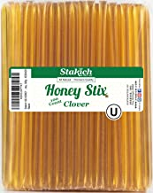 Stakich Clover Honey Stix - Pure U.S. Grade A Honey, 100 Sticks - Kosher Certified - Perfect for Gifts, Tea, Kids Snacks, Travels and Outdoors