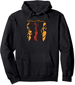 African Pullover Hoodies for Women - African Dance