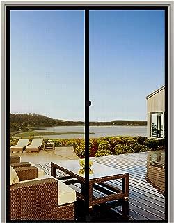 MAGZO Screen Door Magnets 48 x 96, Durable Fiberglass Double Door Mesh with Full Frame Hook&Loop Fits Door Size up to 48
