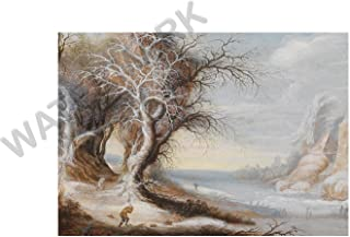 Wee Blue Coo Painting Leytens Winter Landscape With Woodcutter Wall Art Print