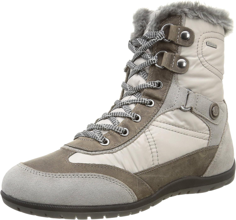 Geox Women's D New Vega B ABX Ankle Boot (39 M EU   9 M US, Grey)