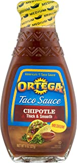Ortega Taco Sauce, Chipotle, 8 Ounce (Pack of 12)