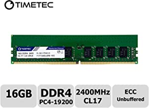 Timetec 16GB for Synology RS1619xs+, RS2418+, RS2418RP+, RS2818RP+, RS3617xs+, RS3617RPxs, RS3618xs, RS4017xs+ DDR4 2400Mhz 1.2V ECC Unbuffered 288 Pin Memory (Equivalent to Synology D4EC-2400-16G)