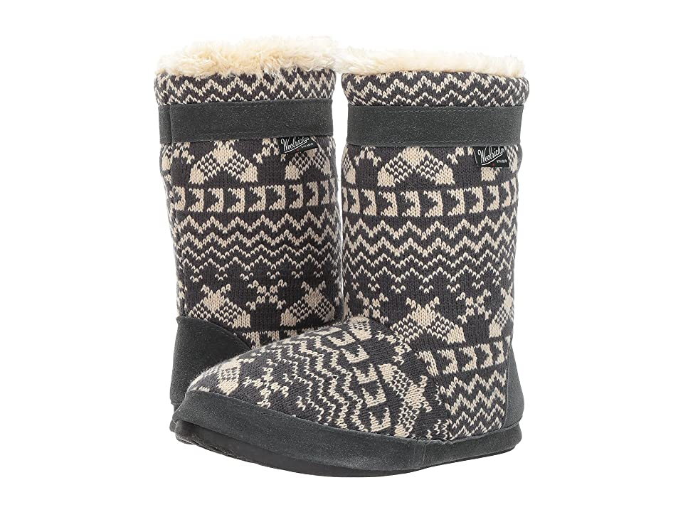 Woolrich Whitecap Knit Boot (Charcoal Snowshoe) Women