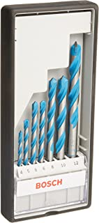 Bosch Professional - Juego de 7 brocas multiuso Robust Line CYL-9 MultiConstruction (4 5 6 6 8 10 12 mm)