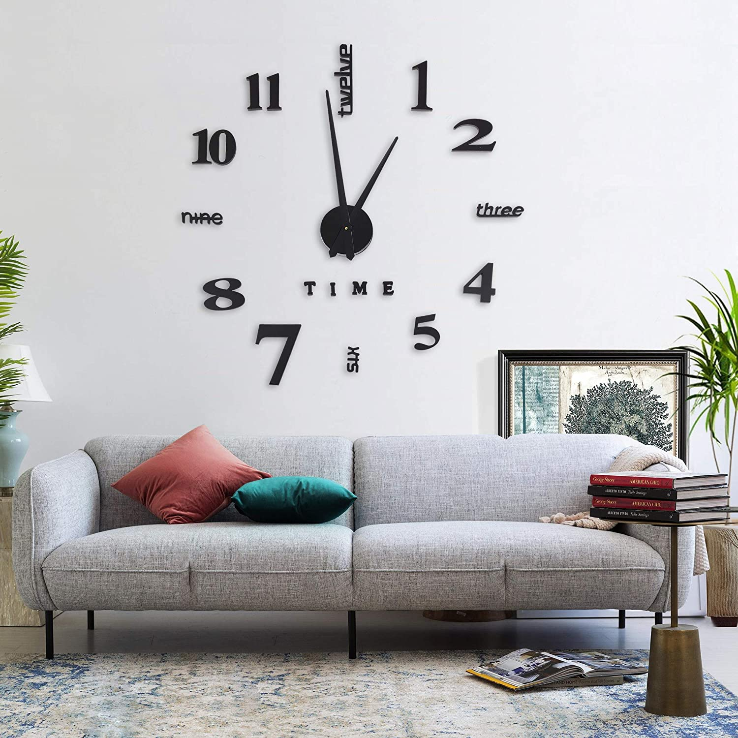 3D DIY Wall Clock Colorado Springs Mall Limited price Mirror C Frameless Number Stickers Large