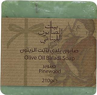 Bayt Al Saboun Al Loubnani Olive Oil Baladi Soap - Pinewood, 210 gm